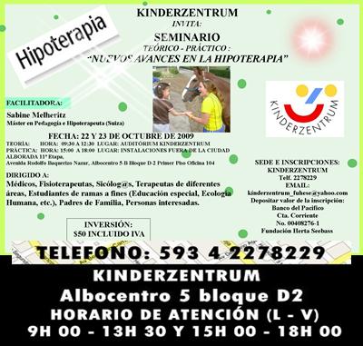 DETALLES SOBRE EL CURSO DE HIPOTERAPIA