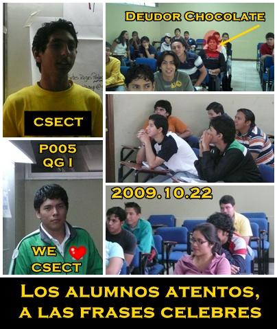 ALUMNOS DEL P005 QG I
