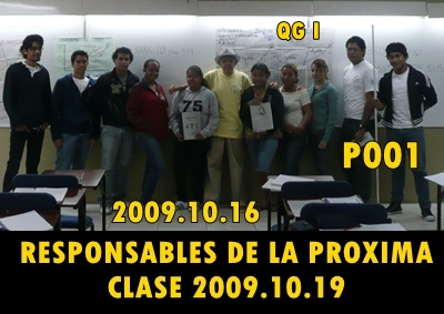 RESPONSABLES PROXIMA CLASE P001