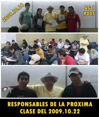 RESPONSABLES PROXIMA CLASE P005