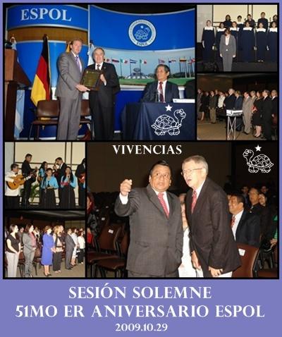 VIVENCIAS SESIÓN SOLEMNE POR 51mo er ANIVERSARIO CREACIÓN DE LA ESPOL, GUAYAQUIL, ECUADOR