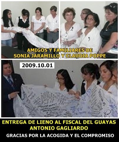 ENTREGA DE LIENZO AL FISCAL DEL GUAYAS