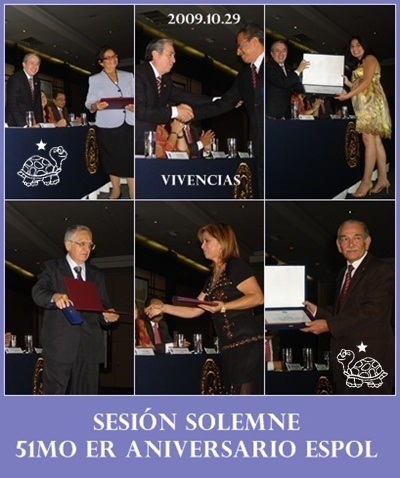 VIVENCIAS SESIN SOLEMNE POR 51mo er ANIVERSARIO CREACIN DE LA ESPOL, GUAYAQUIL, ECUADOR
