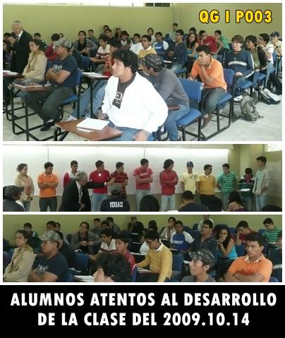 LOS ALUMNOS DEL P003 ATENTOS A LA CLASE