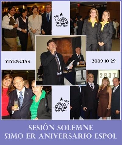 VIVENCIAS DE LA SESIÓN SOLEMNE POR 51mo er ANIVERSARIO CREACIÓN DE LA ESPOL, GUAYAQUIL, ECUADOR