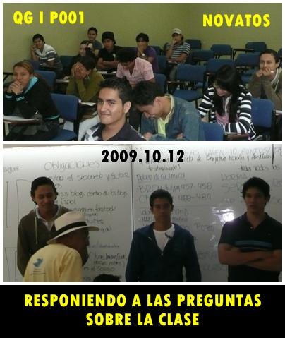 LOS ALUMNOS ATENTOS A LA CLASE RESPONDEN VARIAS PREGUNTAS