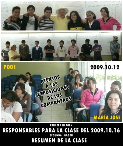 PRIMER DÍA DE CLASES DEL P001