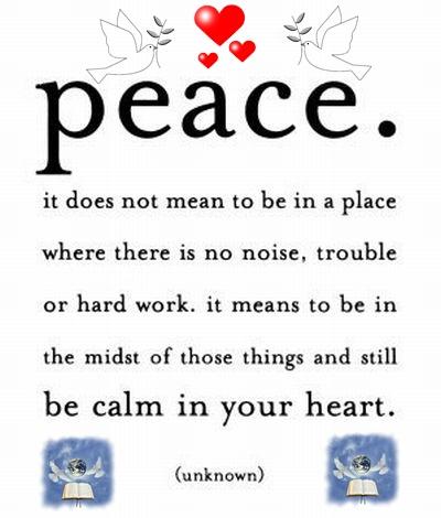 PEACE AND PAZ, PAZ EN PEACE