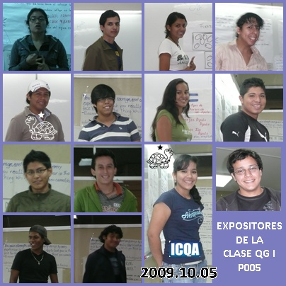 ALUMNOS EXPOSITORES DE LA CLASE