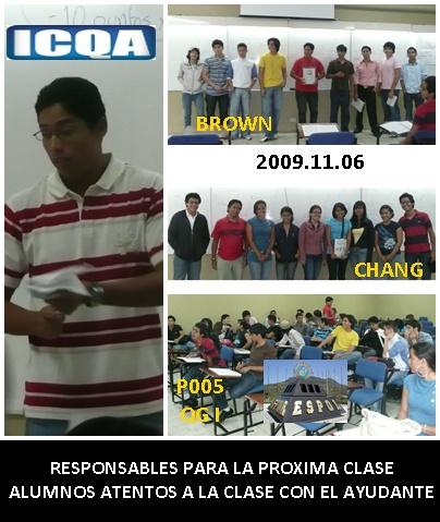 RESPONSABLES DE LA CLASE P005