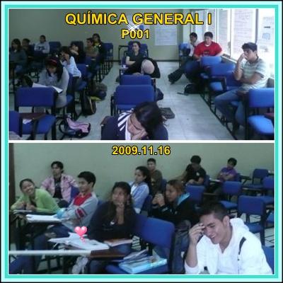 QUÍMICA GENERAL I, P001, 2009.11.16