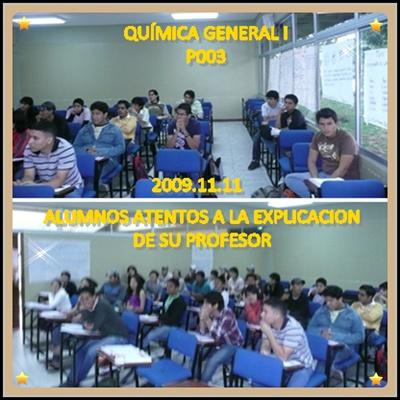 QUÍMICA GENERAL I, P003, 2009.11.11