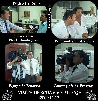 VISITA DE ECUAVISA A LOS PREDIOS DEL ICQA