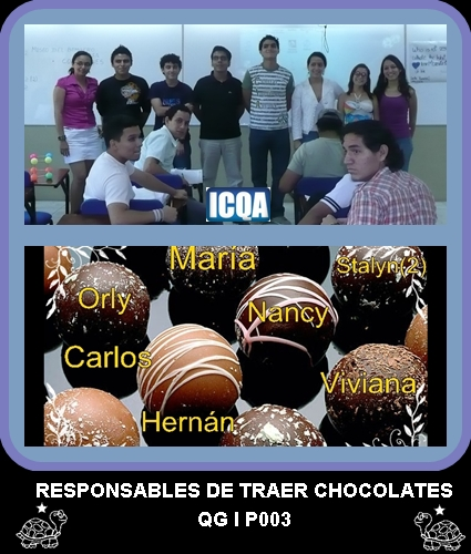RESPONSABLES DE TRAER CHOCOLATES