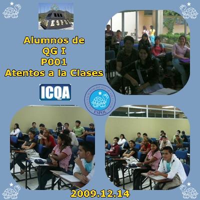 ALUMNOS ATENTOS A LA CLASE DE QG I P001