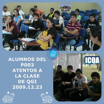 ALUMNOS DE QGI P003 ATENTOS A LA CLASE