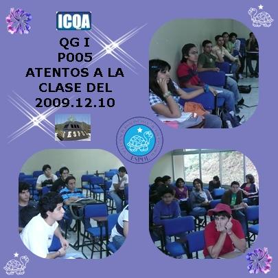 ESTUDIANTE DEL P005 ATENTOS A LAS CLASES DE QG I
