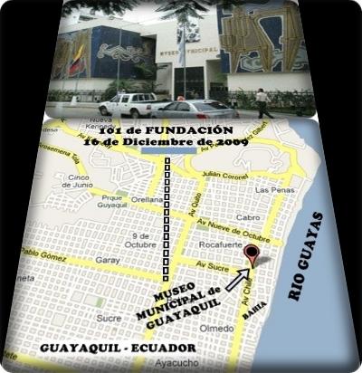 UBICACIÓN DEL MUSEO DE GUAYAQUIL