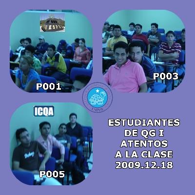 ATENTOS A LA CLASE DE QG I DEL 2009.12.18