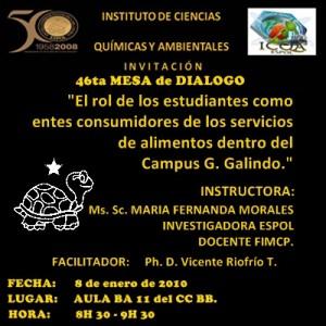 INVITACIÓN 46TA MA MESA DE DIALOGO