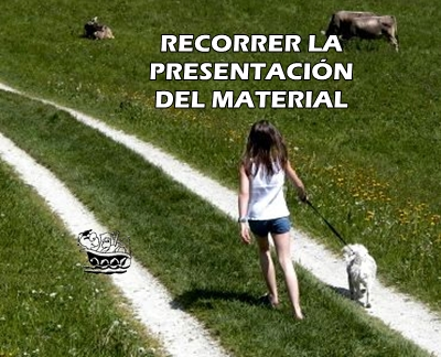 RECORRER LA PRESENTACIN DEL MATERIAL
