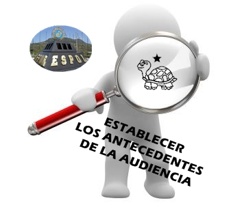 ESTABLECER LOS ANTECEDENTES DE LA AUDIENCIA