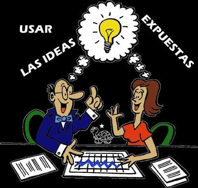 USAR LAS IDEAS EXPUESTAS