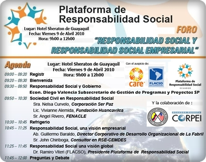 PLATAFORMA DE RESPONSABILIDAD SOCIAL