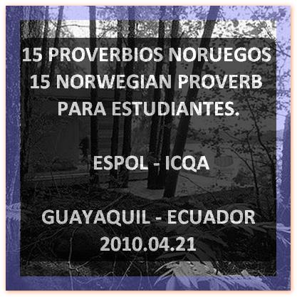 15 PROVERBIOS NORUEGOS