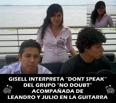 "GISELL. LEANDRO Y JULIO INTERPRETANDO ""DONT SPEAK"""