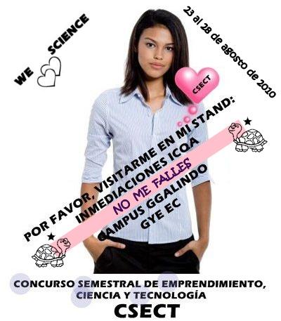 INVITACIÓN al CSECT, ICQA, ESPOL, 2010.08. 23 - 28